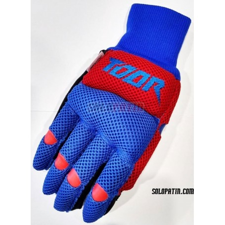 Guantes Hockey Toor Line Air Azul Rojo