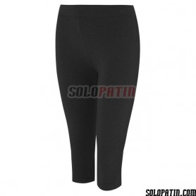 Collant leggins lunghezza media Nero