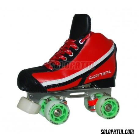 Conjunto Patines Hockey Genial MAX  Nº 7 Rojo