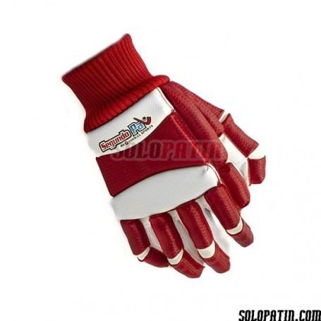 Handshuhe Segundo Palo Retro Rot Weiss