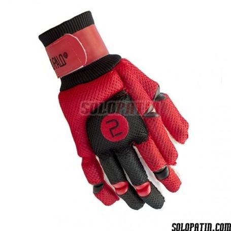 Handshuhe Segundo Palo Mesh Rot Schwarz