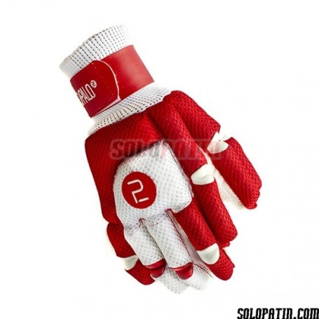 Gants Hockey Segundo Palo Mesh Rouge Blanc