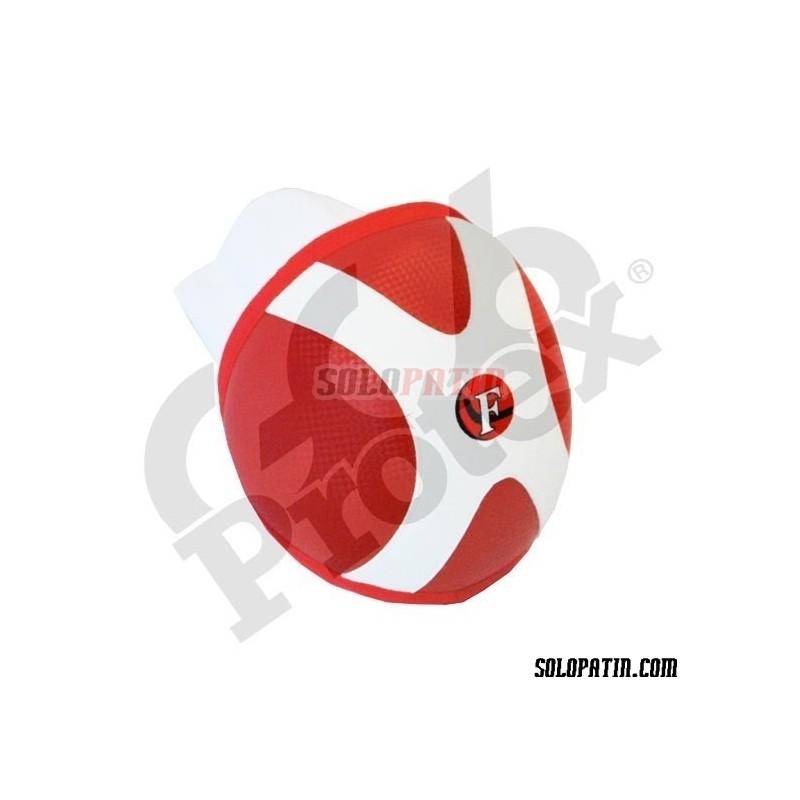 Rodilleras Hockey Segundo Palo Retro Rojo Blanco
