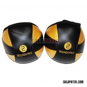 Hockey Knee Pads Segundo Palo Classic Golden Black
