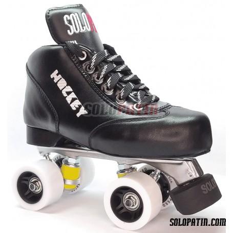 Conjunto Patines Hockey Solopatin Best Aluminio Negro