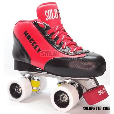 Conjunto Patines Hockey Solopatin Best Aluminio Rojo
