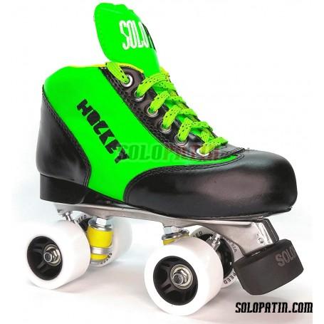 Conjunto Patines Hockey Solopatin Best Aluminio Verde