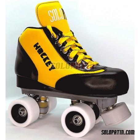 Hockey Roller Set Solopatin BEST YELLOW Roll line MIRAGE 2 SPEED Wheels