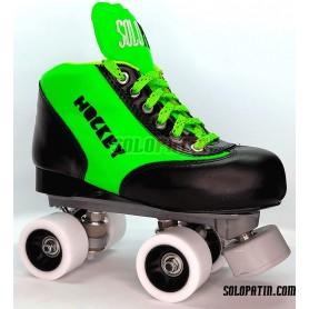 Conjunto Patines Hockey Solopatin Best VERDE Roll Line MIRAGE 2 ruedas SPEED