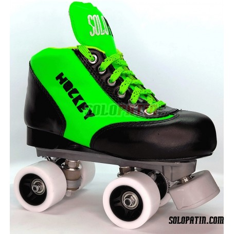 Hockey Roller Set Solopatin BEST GREEN Roll line MIRAGE 2 SPEED Wheels