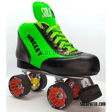 Conjunt Patins Hockey Solopatin BEST VERD Alumini Rodes ROLL LINE CENTURION