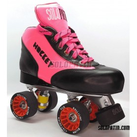 Conjunto Patines Hockey Solopatin BEST ROSA Aluminio ruedas ROLL LINE CENTURION
