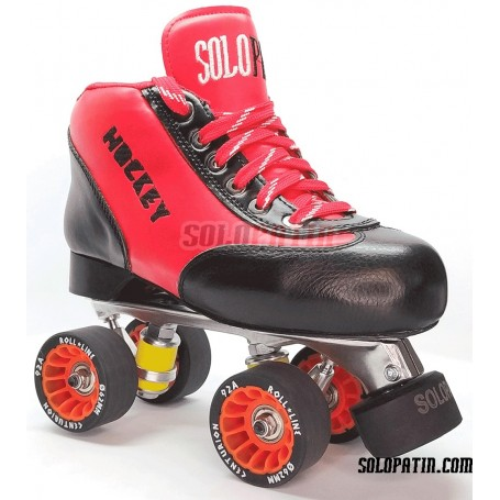 Conjunto Patines Hockey Solopatin BEST ROJO Aluminio ruedas ROLL LINE CENTURION