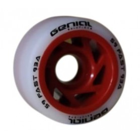 Ruote Hockey Genial Fast 93A Rosso