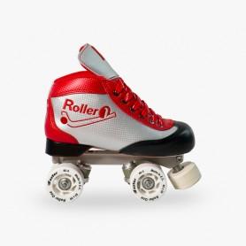 Patins Completos Hóquei Roller One Carbon Look Vermelho