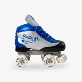 Patins Completos Hóquei Roller One Carbon Look Azul
