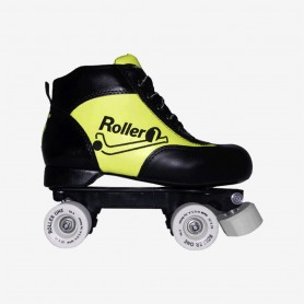 Conjunto Patines Hockey Roller One Beginner Negro / Amarillo