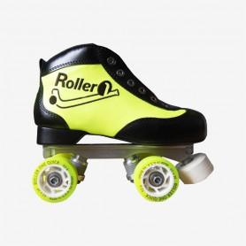 Conjunto Patines Hockey Roller One Hefesto II Beginner Negro / Amarillo