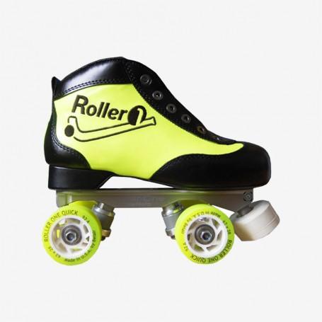 Rollschuhe Komplett Roller One Hefesto II Beginner Schwarz / Gelb