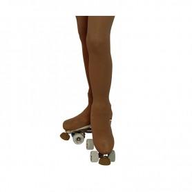 Calças Justas Cobre-Botas Queen Skate Nude
