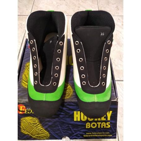 Botas Hockey Federal Twister Verde / Blanco nº46