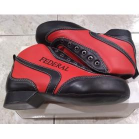 Botas Hockey Federal ECO Rojo / Negro nº40