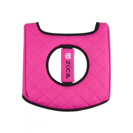 Zuca Seat Cushion Hot Pink / Black