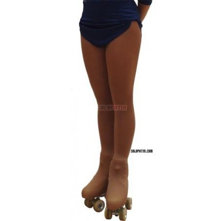 Calças Justas Cobre-Botas panty Nude