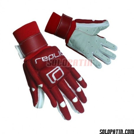 Guantes Hockey Replic R-10 Plus Rojo