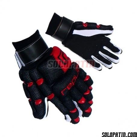 Guantes Hockey Replic R-12 Plus Negro / Rojo