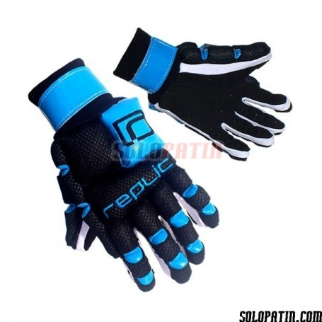 Guantes Hockey Replic R-12 Plus Negro / Azul