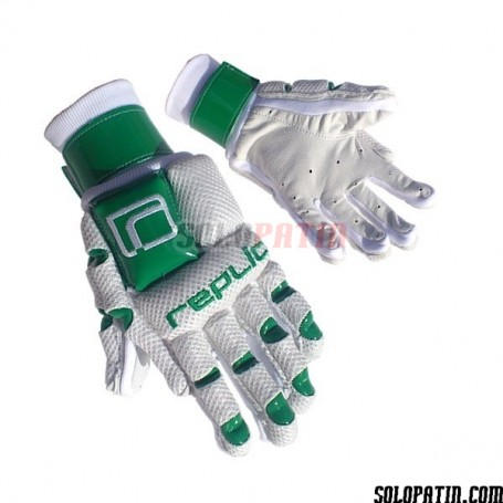 Guantes Hockey Replic R-12 Plus Blanco / Verde