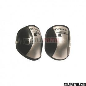Rollhockey knieschoner Replic Mini Schwarz / Silber