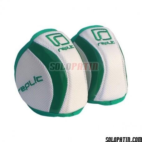 Rodilleras Hockey Replic R-12 Plus Blanco / Verde