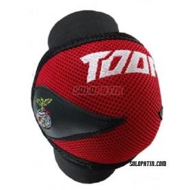 Rodilleras Hockey Toor Line Air Rojo Negro