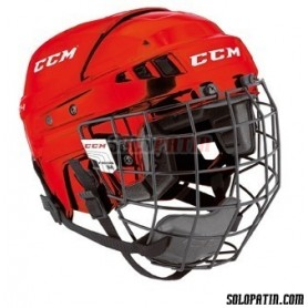 Casco Hockey CCM V-04 COMBO Rojo