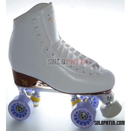 Figure Quad Skates RISPORT ANTARES Boots STAR B1 Frames KOMPLEX AZZURRA Wheels
