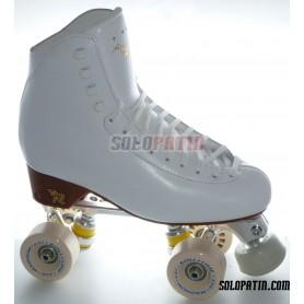 Figure Quad Skates RISPORT ANTARES Boots STAR B1 Frames ROLL-LINE MAGNUM Wheels