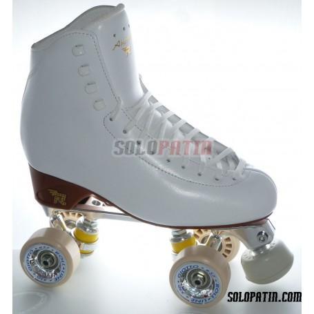 Figure Quad Skates RISPORT ANTARES Boots STAR B1 Frames ROLL-LINE GIOTTO Wheels