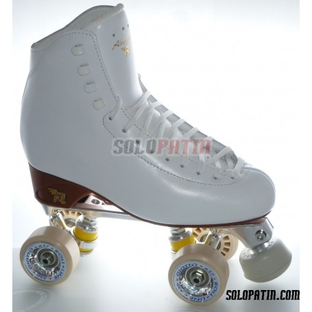 Patins Complets Artistique Bottines RISPORT ANTARES Platines STAR B1 Roues ROLL-LINE GIOTTO