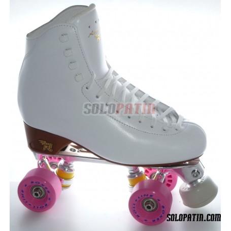 Figure Quad Skates RISPORT ANTARES Boots STAR B1 Frames ROLL-LINE BOXER Wheels