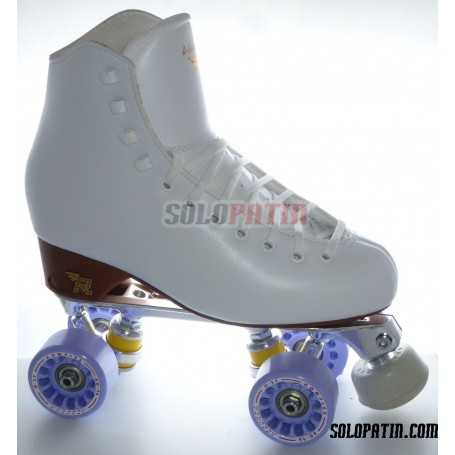 Figure Quad Skates RISPORT VENUS Boots STAR B1 Frames KOMPLEX AZZURRA Wheels