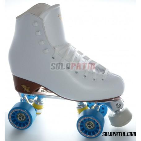 Figure Quad Skates RISPORT VENUS Boots STAR B1 Frames KOMPLEX IRIS Wheels