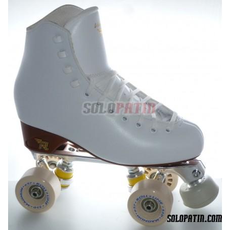 Figure Quad Skates RISPORT VENUS Boots STAR B1 Frames ROLL-LINE MAGNUM Wheels