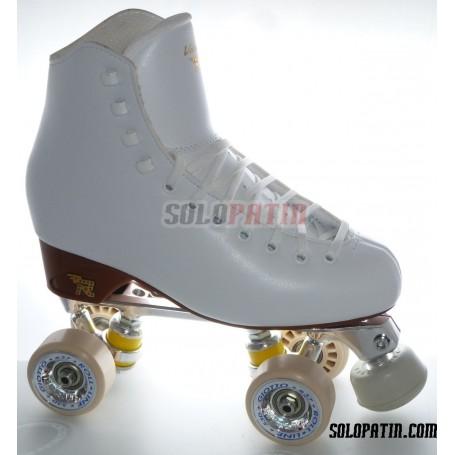 Figure Quad Skates RISPORT VENUS Boots STAR B1 Frames ROLL-LINE GIOTTO Wheels