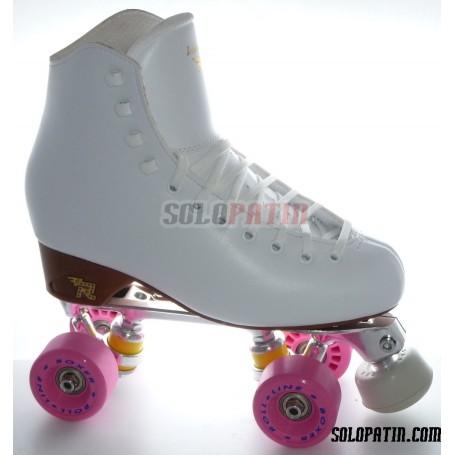 Figure Quad Skates RISPORT VENUS Boots STAR B1 Frames ROLL-LINE BOXER Wheels