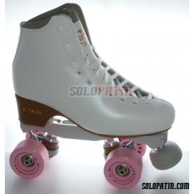 Figure Quad Skates BOIANI STAR RK Frames EDEA BRIO Boots BOIANI STAR Wheels