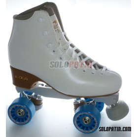 Figure Quad Skates EDEA BRIO Boots BOIANI STAR RK Frames KOMPLEX IRIS Wheels
