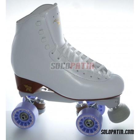Figure Quad Skates RISPORT ANTARES Boots BOIANI STAR RK Frames KOMPLEX AZZURRA Wheels