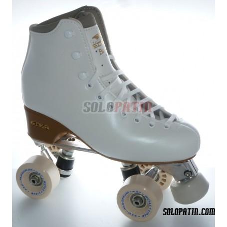 Figure Quad Skates EDEA BRIO Boots Aluminium Frames ROLL-LINE MAGNUM Wheels